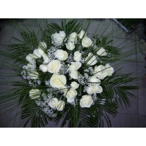 Bouquet of 25 Long Stemmed White Roses